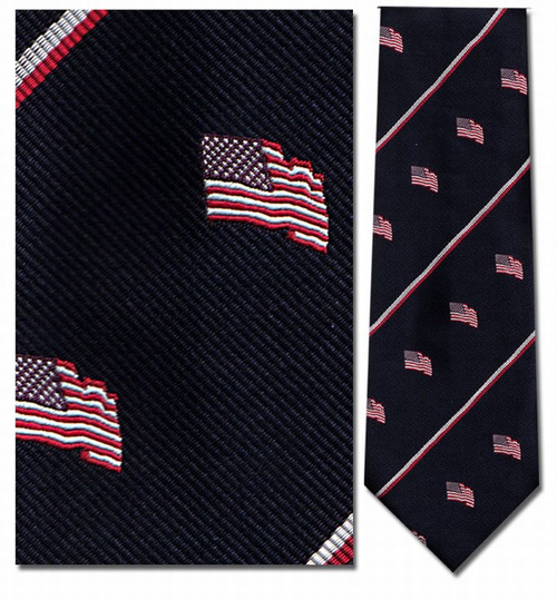 American Flag Stripe Repp Necktie - Museum Store Company Photo