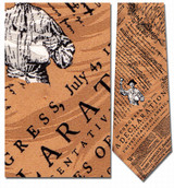Declaration of Independence Gold Necktie - Museum Store Company Photo