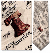 Declaration of Independence Necktie - Museum Store Company Photo