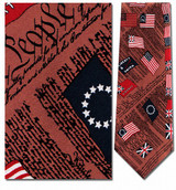 Flags of America Necktie - Museum Store Company Photo