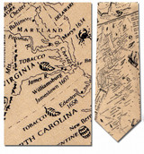 The 13 Original Colonies Map Necktie - Museum Store Company Photo