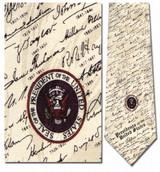 U.S. Presidential Signatures Necktie - Museum Store Company Photo