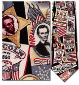 Abraham Lincoln Memorabilia Necktie - Museum Store Company Photo