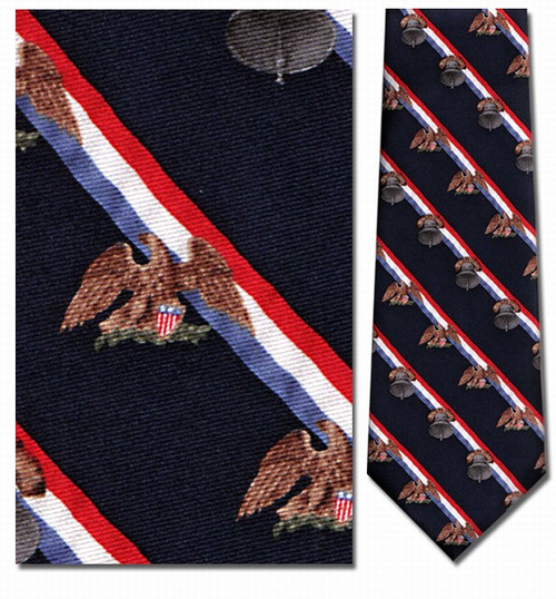 Liberty Bell & American Eagle Repeat Necktie - Museum Store Company Photo