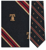 Liberty Bell Stripe Repp Necktie - Museum Store Company Photo