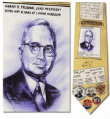 Harry Truman Necktie - Museum Store Company Photo