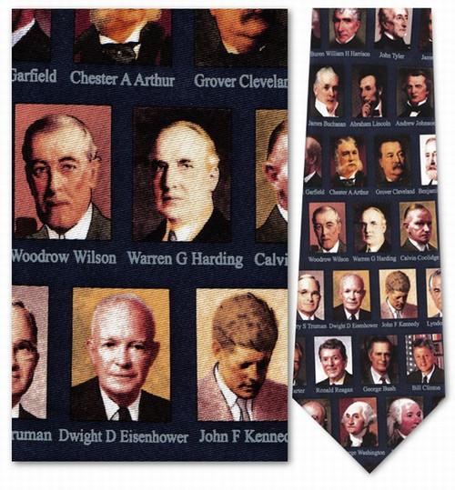 U.S. Presidential Portraits in Color Necktie - Museum Store Company Photo