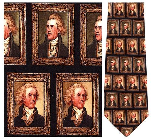 Thomas Jefferson Portraits Necktie - Museum Store Company Photo