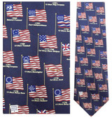 Flags of Heritage Necktie - Museum Store Company Photo