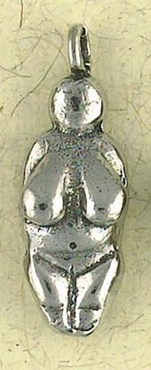 Venus of Willendorf Pendant on Cord : The Goddess Collection - Photo Museum Store Company