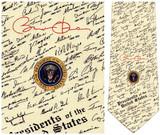 Barak Obama Presidential Signature Necktie - Museum Store Company Photo