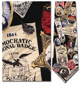 Democratic Memorabilia, Campaign Buttons Necktie - Museum Store Company Photo