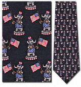 G.O.P. Elephant on Pedestal Necktie - Museum Store Company Photo