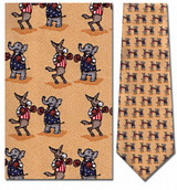 Elephant & Donkey Boxing Necktie - Museum Store Company Photo