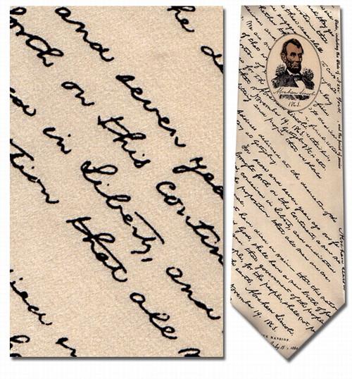 Lincoln's Gettysburg Address Necktie - Museum Store Company Photo