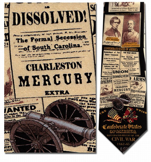 History of the Civil War Necktie - Museum Store Company Photo