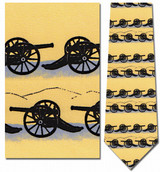 Classic Cannons Silhouette Necktie - Museum Store Company Photo