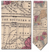 USA Blocks Sectional Map Necktie - Museum Store Company Photo