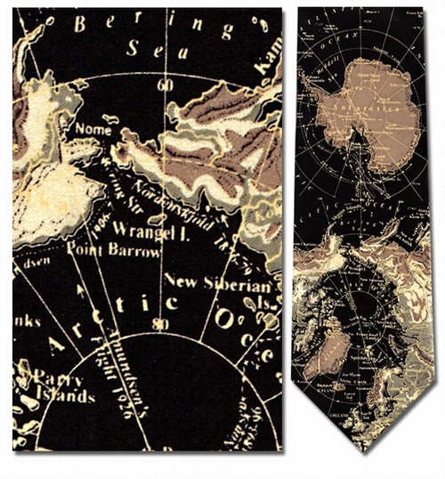 Antarctic Map Necktie - Museum Store Company Photo