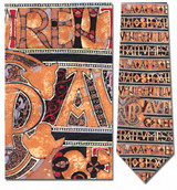 Horizontal Book of Kells Manuscript Necktie - Museum Store Company Photo