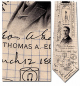 Thomas Edison Necktie - Museum Store Company Photo