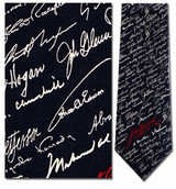 John Hancock - Famous Signatures Necktie - Museum Store Company Photo