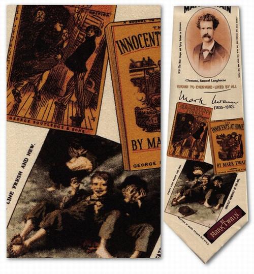 Mark Twain Necktie - Museum Store Company Photo