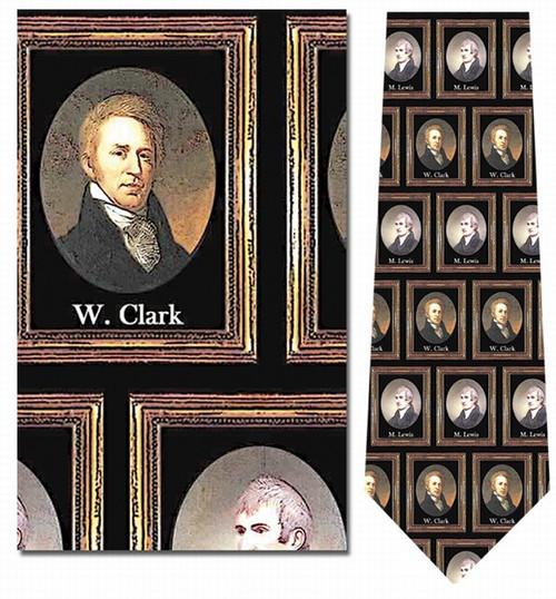 Lewis & Clark Portraits Necktie - Museum Store Company Photo