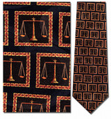 Legal Scales In Squares Necktie - Museum Store Company Photo