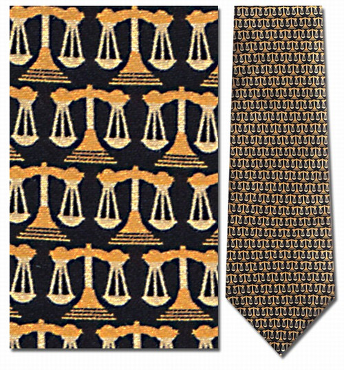 Small Gold Legal Scales of Justice Necktie - Museum Store Company Photo