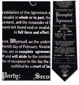 Prenuptial Agreement, Lawyer Necktie - Museum Store Company Photo