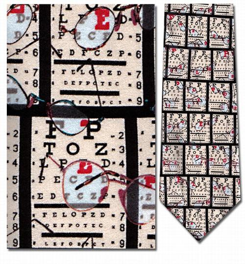 Eye Chart Necktie - Museum Store Company Photo