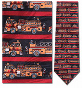 Fire Engines Necktie - Museum Store Company Photo