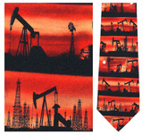 Oil Rigs & Derricks Necktie - Museum Store Company Photo