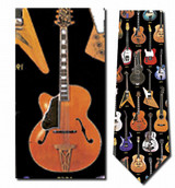 Classic Guitars Necktie - Museum Store Company Photo