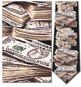 Stack of $100 Bills - $1 Million Dollars Necktie - Museum Store Company Photo