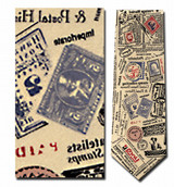 Stamp Collecting Theme Necktie - Museum Store Company Photo