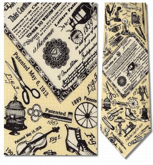 U.S. Patents, C. 1859 Necktie - Museum Store Company Photo
