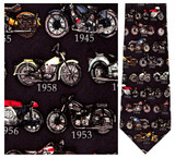 Motorcycles - Retro Series Necktie - Museum Store Company Photo