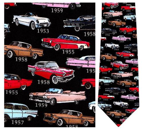 1950's Classic Cars - Retro Series Necktie - Museum Store Company Photo