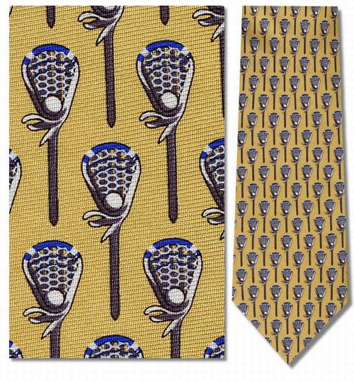Lacrosse Sticks & Balls Necktie - Museum Store Company Photo