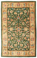 Vintage Agra - Sage / Tan Rug : Persian Tufted Collection - Photo Museum Store Company