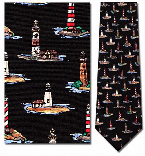 Lighthouses Repeat Necktie - Museum Store Company Photo