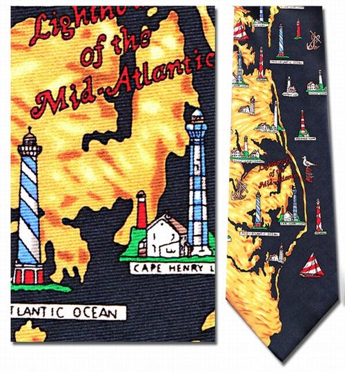Lighthouses of the Mid Atlantic Necktie - Museum Store Company Photo