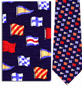 Nautical Flags Necktie - Museum Store Company Photo