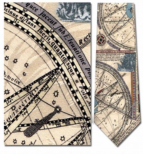 Nautical Map, C. 1742 Necktie - Museum Store Company Photo