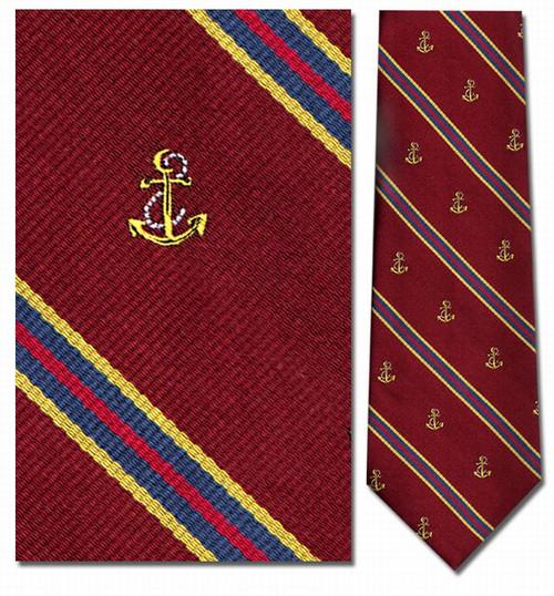 Anchors Stripe Repp Necktie - Museum Store Company Photo