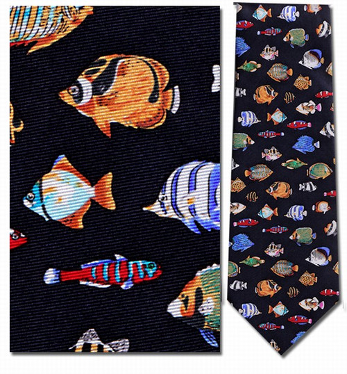 Colorful Tropical Fish Necktie - Museum Store Company Photo