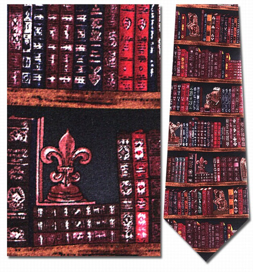Office Bookshelf Necktie - Museum Store Company Photo