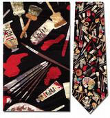 Artist's Painting Tools Necktie - Museum Store Company Photo